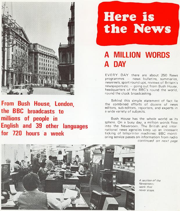 "From undated BBC External Services booklet ""News from BBC London"""