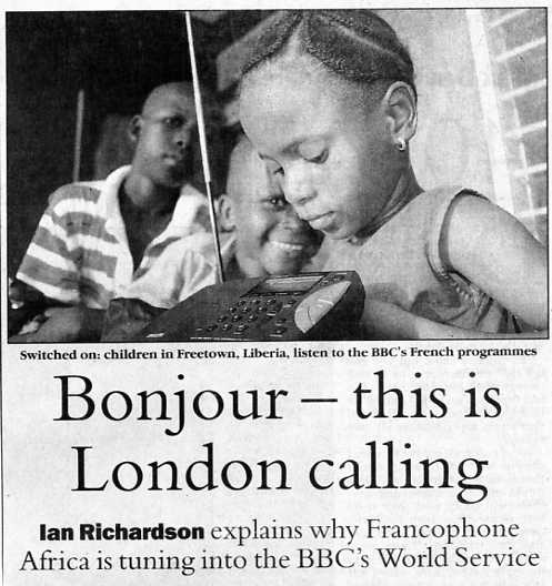 Bonjour -- this is London calling.